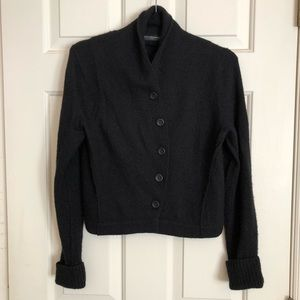 Peruvian Connection button-up sweater - Black